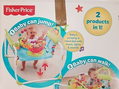 BABY FIRST STEPS JUMPEROO music lights sounds. 2 in 1, jumps walks