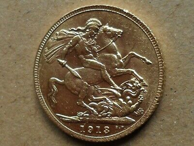 1913 KING GEORGE V FULL GOLD SOVEREIGN, from private collection