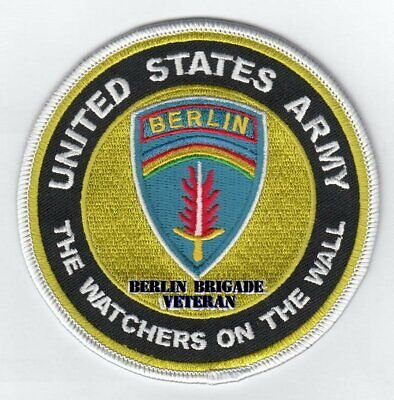 """Berlin Brigade- Watchers On The Wall 4"""" Round Embroidered Patch"""