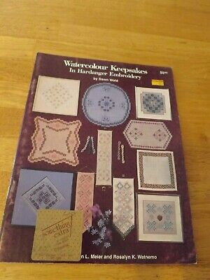 Vintage Elegant Watercolour Keepsakes II in Hardanger Embroidery Booklet Pattern