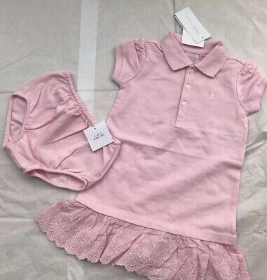 65c058bca Ralph Lauren Baby Girl Polo Dress Set - Pink - Frill - 24 Months - BNWT