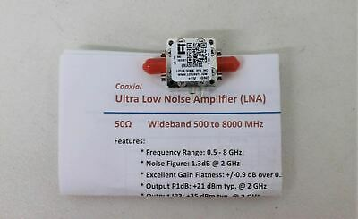 LOTUS COMMUNICATION SYSTEMS LNA500M8G Coaxial Ultra Low Noise Amplifier NEW