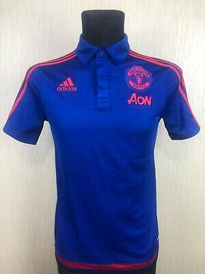 a07e6e79962 Manchester United 2015/2016 Training Football Soccer Jersey Adidas Boys  Size Xl
