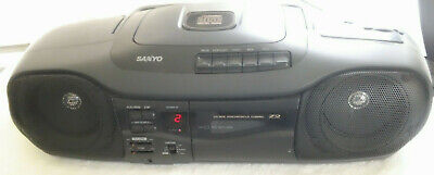 Vintage Sanyo Boombox Radio, CD, & Cassette Tape Player MCD-Z2 Fully Fuctional