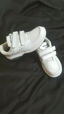 6e36a245fb554 New Balance 813 Mens 8 D Rollbar Hook & Loop Shoes MW813WT White Walking  Leather