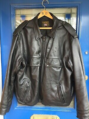 "Vanson Leather Jacket  50"" XXL made in USA very good condition"