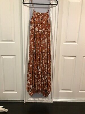spell and the gypsy collective GYPSY DANCER maxi Strappy Gown Dress Maple Small