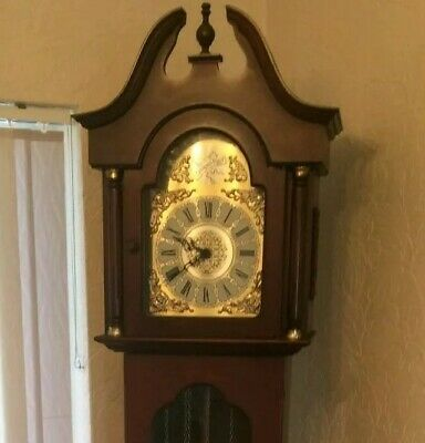 Tempus Fugit Westminster Grandfather Clock mahogany fantastic working condition