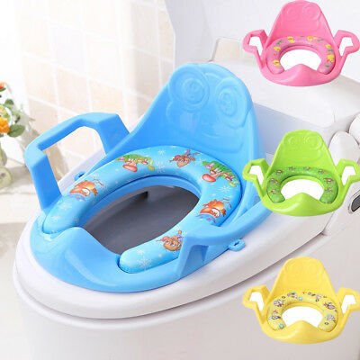 Portable Potty Chair Pad Cushion Folding Child Baby Toilet Seat Soft Traini T1F4