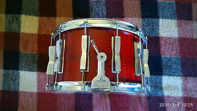 Vintage LUDWIG SNARE B/O BADGE 6.5X14  CHERRY RED LACQUER