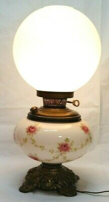 Antique Vintage Gone With The Wind Electric Double Globe Light Lamp