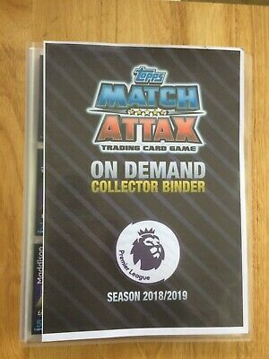 Topps Match Attax On Demand 2018-2019 Cards (Full Set Of 205 In Bespoke Binder