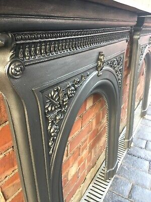 Cast Iron Fire Surround Fireplace Antique Pair - Uk Delivery