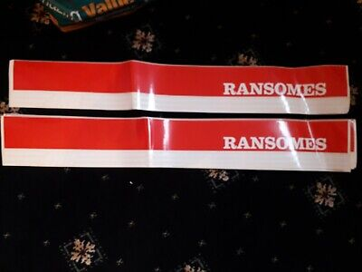 Ransomes 4wd Sticker Plough Lawnmower Tractor Decal 009038510