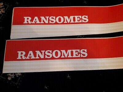 Ransomes 4WD sticker Lawnmower Tractor Plough Decal 009038520