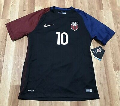 18bd8141df2 New Men's Nike 2016/17 Pulisic Team Usa Dri-Fit Soccer Jersey Sz Medium