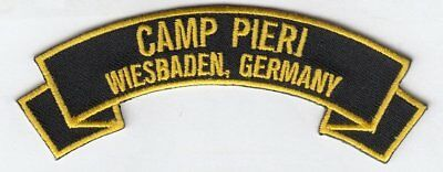 """Camp Pieri ,Wiesbaden  Germany embroidered 4"""" rocker tab patch"""