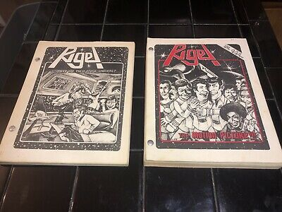 STAR TREK FANZINES LOT (3/15) RIGEL 3,4,5,6 Slash 1st Editions