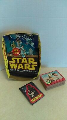 Vintage 1977 Topps Star Wars Series 2 Red Bubble Gum Card Set With Display Box