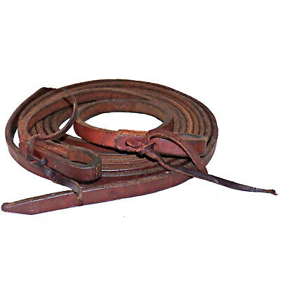 Show Quality Heavy Harness Leather Western Spllit Reins 5/8 Wide by 8 Feet Long