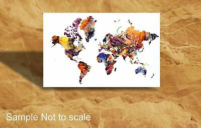 White WORLD MAP, MAP,CANVAS,POSTER PRINTS,FRAMED,UNFRAMED from A3