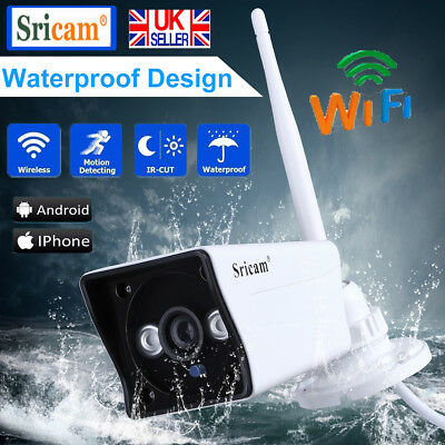 1080P HD Wireless IP CCTV Security IP Camera Wifi Network Camera Night Outdoor