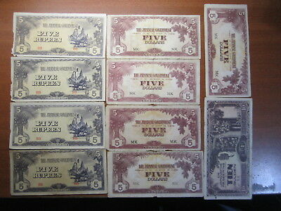 Japanese invasion money WWII bulk lot