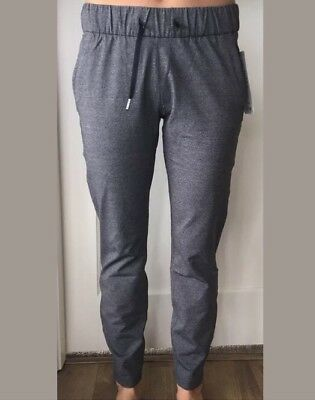 f5878516b Lululemon Size 4 On The Fly Pant Heathered Black HBLK 7 8 Relaxed Luxtreme  NWT