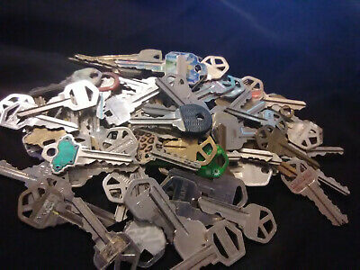 Lot of Nickel Plated (SILVER) Cut Keys: Over 3 lbs....PRICE REDUCED