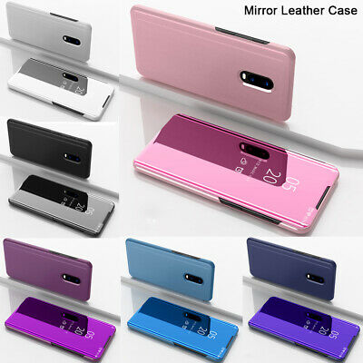 For Sony Xperia 1 Case Luxury Smart Clear View Mirror Leather Flip Stand Cover
