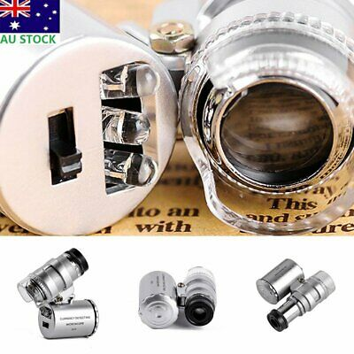 Mini 60X LED Eye Magnifying Magnifier Microscope Jeweler Jewelry Loupe Loop Len