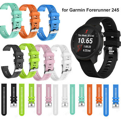 Soft Silicone Replacement Watch Band Strap For Garmin Forerunner 245/245M