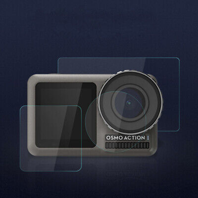 Tempered Glass Film Dual Screen + Lens Protector For OSMO Action Camera.