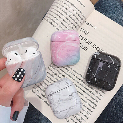 Bag Shell Hard PC Marble Pattern Protective Case Cover For Apple AirPods 1 2