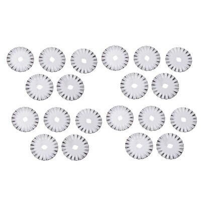 20x 45mm Rotary Cutter Pinking Cut Spare Replacement Blade Quilting Craft