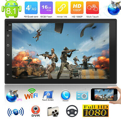 """Double 2Din Android 8.1 7"""" Quad Core Car Stereo MP5 Player GPS FM Radio WiFi BT"""