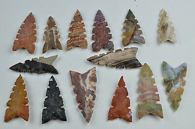 "**One 3"" Avg Flint Spear Point Arrowhead Project Art Knife Blade Lot BB**"