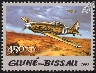 WWII Macchi MC.202 Folgore (Thunderbolt) Fighter Aircraft Stamp