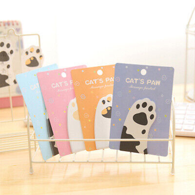 Sticky Notes Mini Cat Paw Memo Notepad Notebook Memo Pad Self-Adhesive Lovely