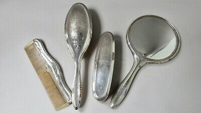 Sydney & Co Sterling Silver Brushes Hand Mirror Vanity Dressing Table Set 1920