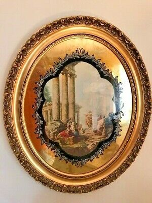 "PAIR Matching Antique Victorian Gold Wood Picture Frame ""Greek/Roman"" Mirrors"