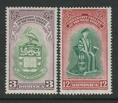 Dominica 1951 Inauguration of BWI University College set SG 118-119 Mnh.