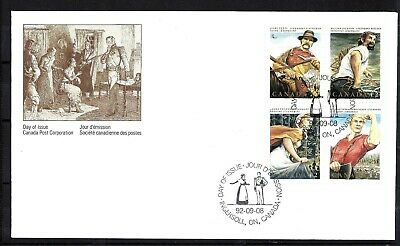 Canada CDN FOLKLORE -3 OFFICIAL FIRST DAY COVER SCOTT 1435a VF (BS12949)