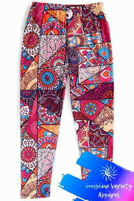 Shattered Art Printed Buttery Soft Stretch Kids Leggings Sizes S-M-L