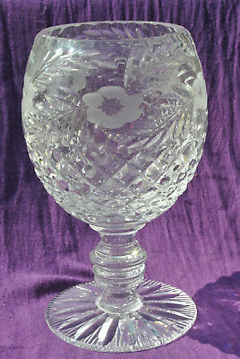 Tutbury Crystal Large Goblet Style Chalice / Vase In Perfect Condition