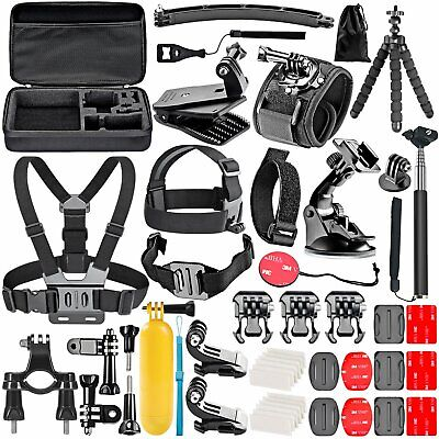 50-In-1 GoPro Hero 7 6 5 4 3+ 3 2 1 Kit Accessories Set Session 5 Black AKASO