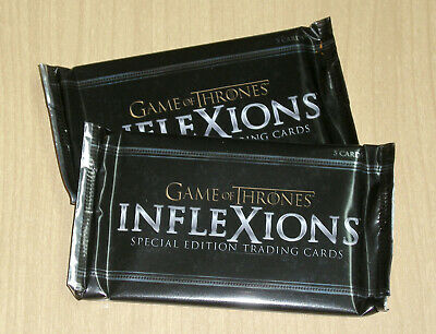 2019 Rittenhouse GOT Game of Thrones Inflexions sealed 2-pack lot please read