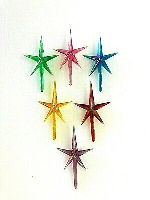 IRIDESCENT AURORA MEDIUM STARS Ceramic Christmas Tree STAR 6 TOPPERS