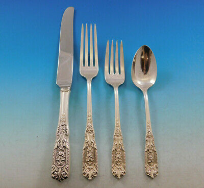 Milburn Rose by Westmorland Sterling Silver Flatware Set for 6 Service 24 Pieces