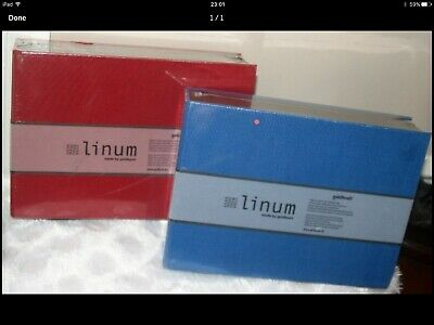 LINUM BOXES NEW RED Or BLUE RETAILS AT £15 EACH PURCHASED FROM FENWICKS